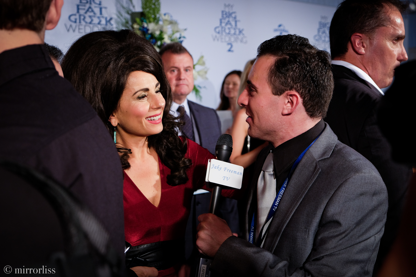 Above- Jake Freeman interviewing Effie, the host of the film's Melbourne premiere. Featured- The film's writer and star Nia Vardalos. Photography by Melissa Romao.