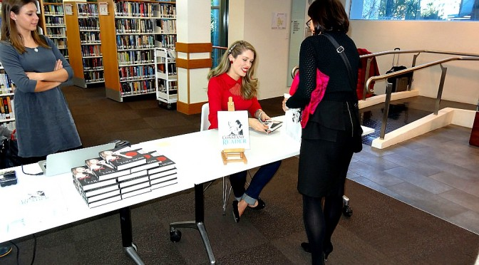 TARA MOSS VISITS THE STANTON LIBRARY NORTH SYDNEY TO PROMOTE SPEAKING OUT
