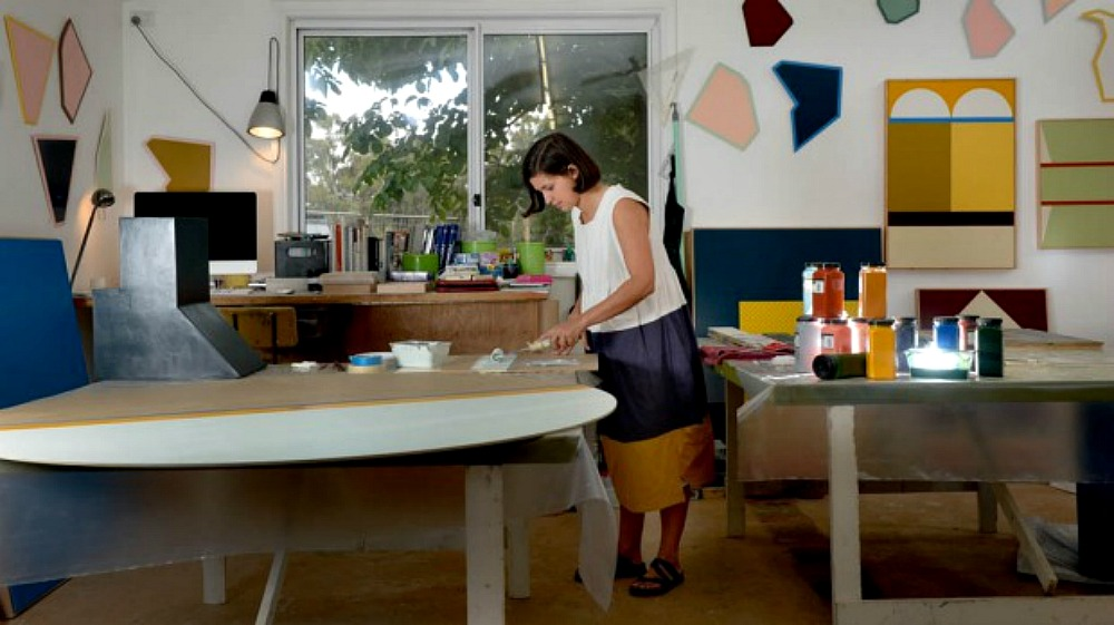 Esther Stewart in her studio in Daylesford. Photo- Penny Stephens