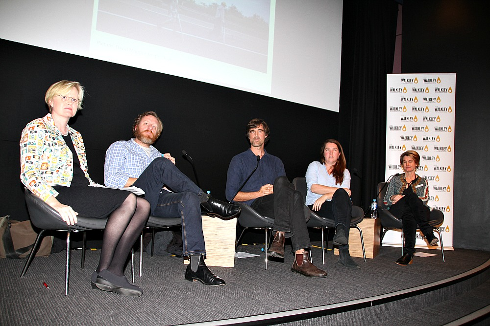 From left to right - Sally Sara, Gary Ramage, David Maurice Smith, Edwina Pickles and Elise Edmonds.