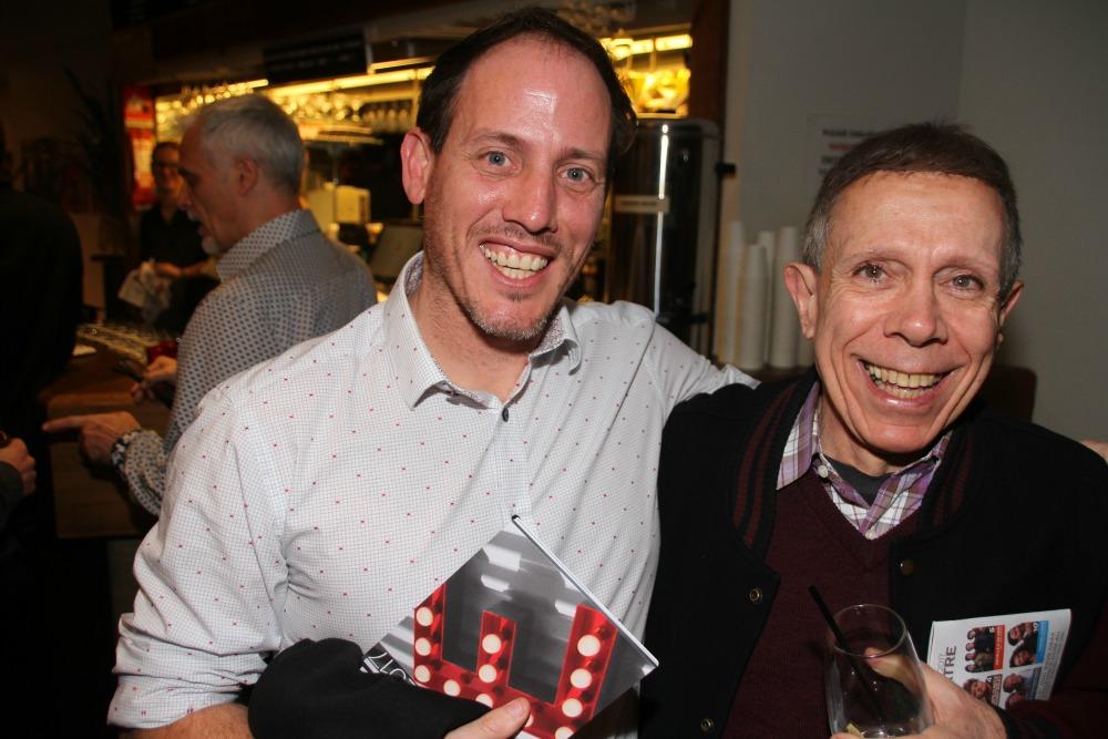Videographer Owen Elliot and playwright John Misto.