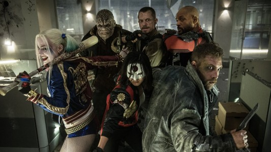 Margot Robbie, Adewale Akinnuoye-Agbaje, Joel Kinnaman, Will Smith, Karen Fukuhara and Jai Coutney for Suicide Squad