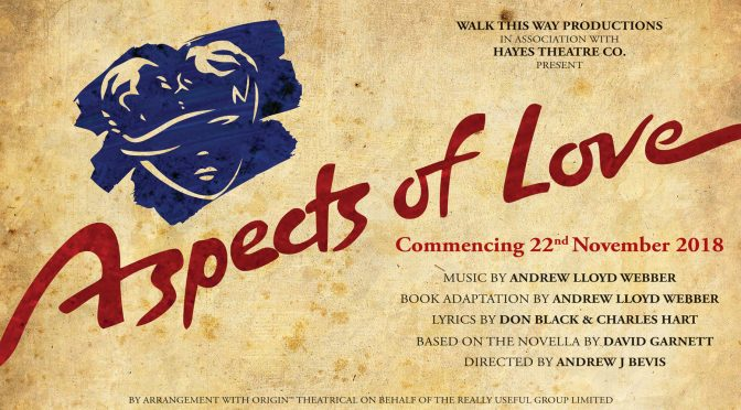 ASPECTS OF LOVE COMING TO HAYES THEATRE