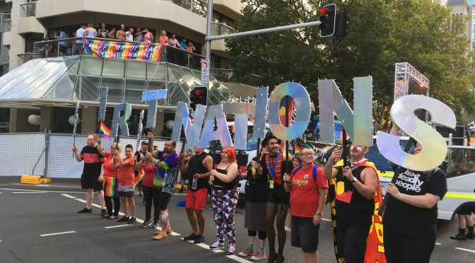 A VIEW FROM THE PARADE: SYDNEY GAY AND LESBIAN MARDI GRAS