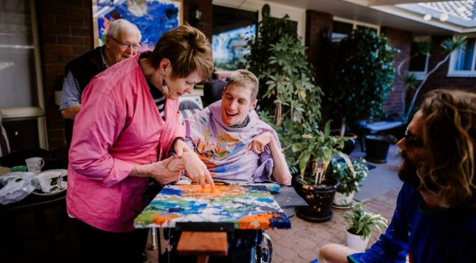 INTERNATIONAL DAY OF PEOPLE WITH DISABILITY: OLIVER MILLS' BRUSH WITH CREATIVITY